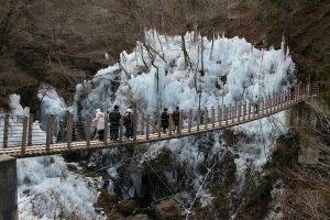 尾ノ内渓谷の尾ノ内百景(冷っけぇ~)氷柱